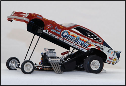 ... Meyer's Mustang is a re-issue Revell Blue Max funny car. Built